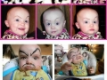 Fake eyebrows on babies