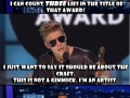Bieber got it mixed up