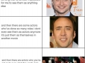 Actors and their roles
