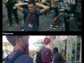 Getting hurt at Comic Con