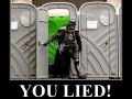 Don't lie to Vader!