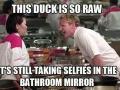 Duckfaces everywhere