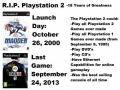 R.I.P. PlayStation 2