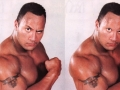 The Rock without eyebrows