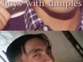 Boys with dimples