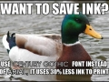 Want to save ink?