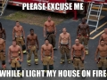 Hot firemen are hot