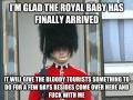 I'm glad he's arrived