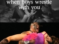 Wrestling with boys