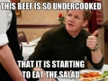 Chef Ramsay on beef