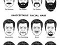 Acceptable facial hair