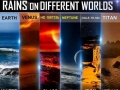 Rains on different worlds
