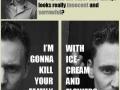 Tom Hiddleston's face