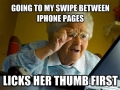 Grandma's got an iphone