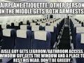 Aeroplane etiquette