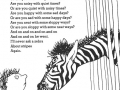 Zebra question