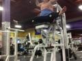 Using gym equipment