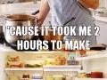 Single guy trying a recipe