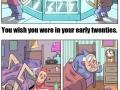 College life vs elderly life