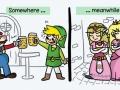 Mario & Link having fun