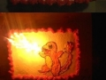 Charmander birthday cake