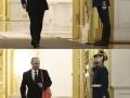 Putin entering a room