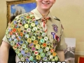 Eagle scout goes camping