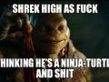 Shrek high as f**k