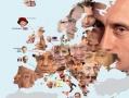 Map of European leaders