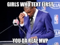 Girls who text first