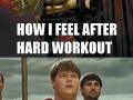 After a workout