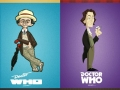 Dr Who cartoon style