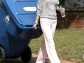 Selena taking out the trash