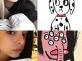 Selfie drawings