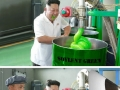 Kim visited a factory