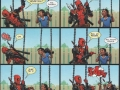 Deadpool interacts with kids