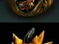 Scary pumpkin carvings
