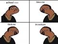 Kanye West sneezing