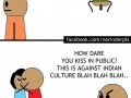 What happens in India