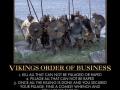 Vikings order of business