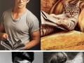 Male models vs kittens