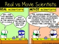 Real vs movie scientists