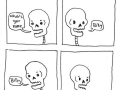 Punny skeleton comics