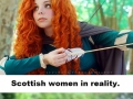 Scottish women in real life