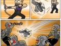 Hawkeye's new weapon