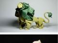 Realistic animal origami