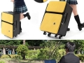 Suitcase with built-in desk