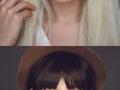 Same girl, different makeup