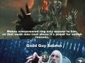 Good guy Sauron!