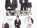 Suit & pyjamas in one